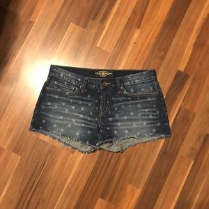 Lucky Brand size 27 Riley shorts with Stars